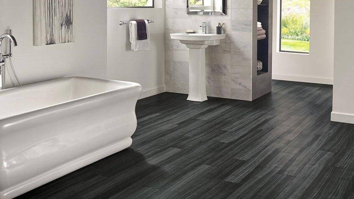 Waterproof Vinyl Flooring Carpet Land, Waterproof Bathroom Flooring